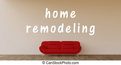 Home Remodeling Concept with Home Interior Art