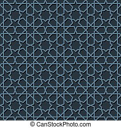 seamless moroccan mosaic - Blue mosaic moroccan zellige...