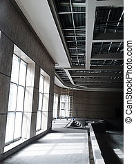 Constructions Ceiling Building - Construction work finishing...