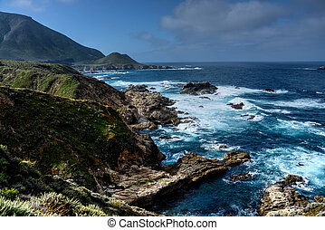 Big Sur California - Pacific Ocean Big Sur California cloudy...