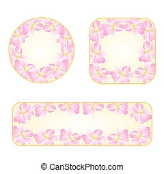 Wild roses banners with a flowers vector.eps - Wild roses...