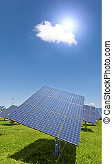 solar plant - An image of a big solar plant