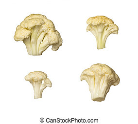 Cauliflower cut out on white background