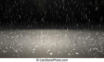 rain particle slow motion blur
