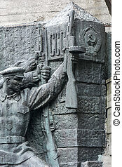 Statues from War Memorial in Kiev - a fragment of the...