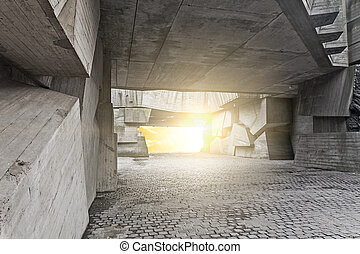 massive concrete chunks - a fragment of the memorial...