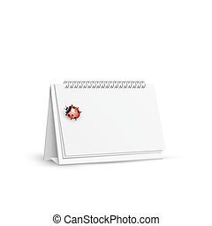 blank spiral table calendars with ladybug