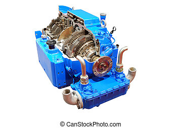 truck automatic transmission front view isolated