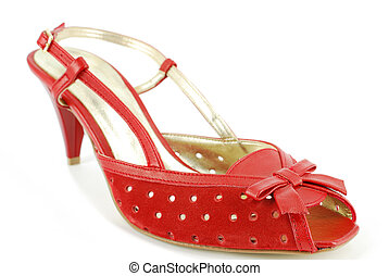 woman summer red shoe