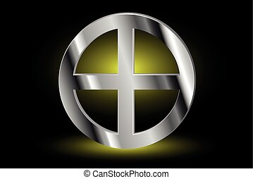 Celtic cross , cross in a circle ,
