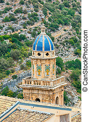 Church bell tower 18th century town of Ragusa Ibla in Sicily...