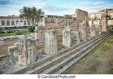Ruins of the ancient greek doric temple of Apollo in...