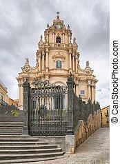 Duomo di San Giorgio, Church of St. George in Ragusa, Sicily...