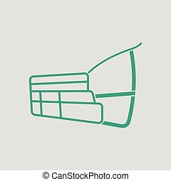 Dog muzzle icon Gray background with green Vector...