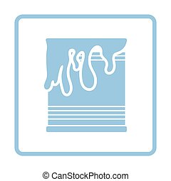 Paint can icon. Blue frame design. Vector illustration.