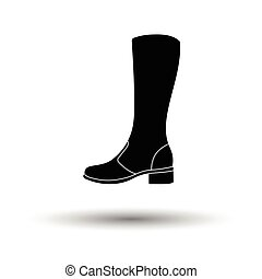 Autumn woman boot icon White background with shadow design...