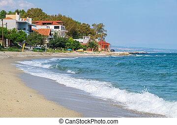 platamonas, playa,  pieria, grecia