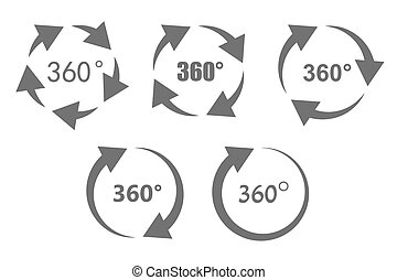 360 degree overview icons - 360 degree overview arrow icon...