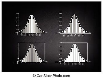 Set of Normal Distribution or Gauss - Background Pattern,...