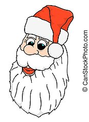 Vector Santa Face - Santa Face. Vector illustration image...