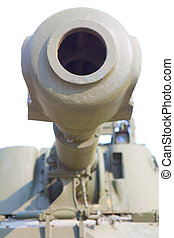 artillery piece closeup in front
