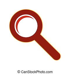 Search sign symbol. - Search sign symbol on white backgroud....