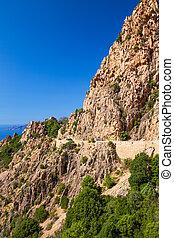 Calanques de Piana on the west coast of Corsica