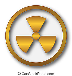 Radiation icon. Internet button on white background.
