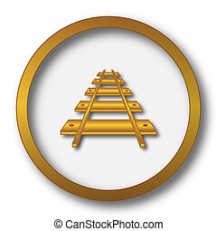 Rail road icon Internet button on white background