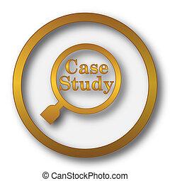 Case study icon Internet button on white background