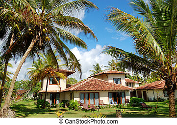 Holiday villa at the popular hotel and palms, Bentota, Sri...