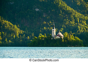 Bled with lake in Slovenia, Europe - Bled with lake, island...