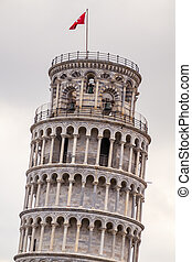 Leaning tower of Pisa - Famous Leaning tower of Pisa, Italy
