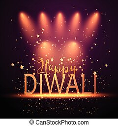 diwali background with spotlights 2109 - Decorative...