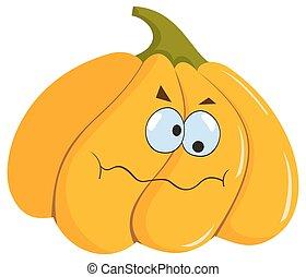 funny halloween pumpkin - funny hallowen pumkin on the white...