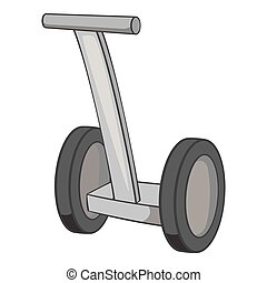 Segway icon, black monochrome style - Segway icon in black...