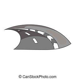 Ikona, Monochromia, styl, czarnoskóry, Autostrada