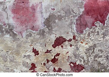 grunge aged weathered cement pink red wall