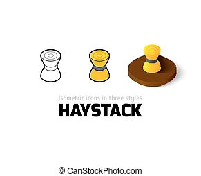 Haystack icon in different style - Haystack icon, vector...