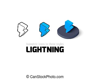 Lightning icon in different style - Lightning icon, vector...