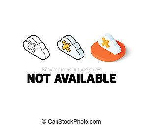 Not aviable icon in different style - Not aviable icon,...