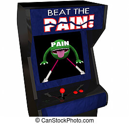 Beat Pain Treatment Medicate Feel Better Arcade Video Game...