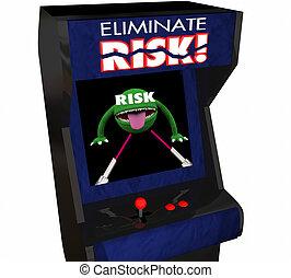 Eliminate Risk Reduce Danger Security Safety Arcade Game 3d...