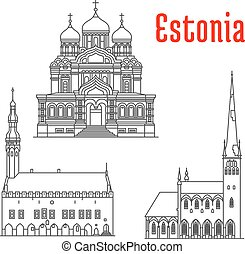 Historic landmarks and sightseeings of Estonia - Estonia...