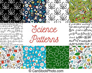 Science seamless pattern backgrounds - Science backgrounds...