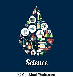 Science. genetics, biochemistry icon - Science icon in shape...
