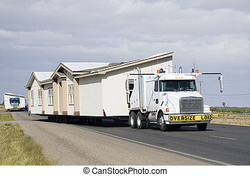 Transporting portable homes - New Mexico