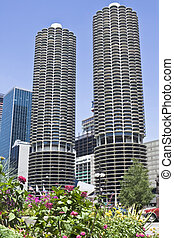 Marina Towers in downtown Chicago