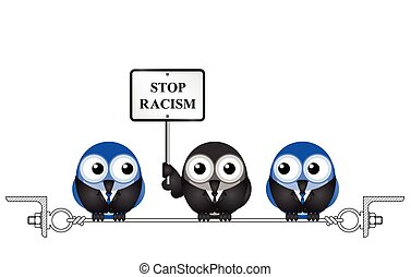 Stop racism - Representation of bigotry with stop racism...