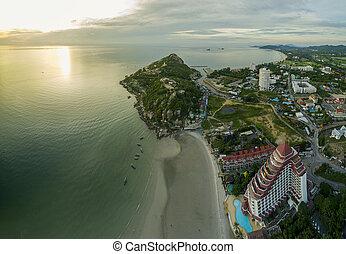 aerial view of khao takeib hua hin prachuapkirikhan southern...